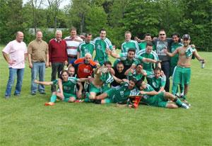 Die Meistermannschaft der Eintracht von 2011/2012